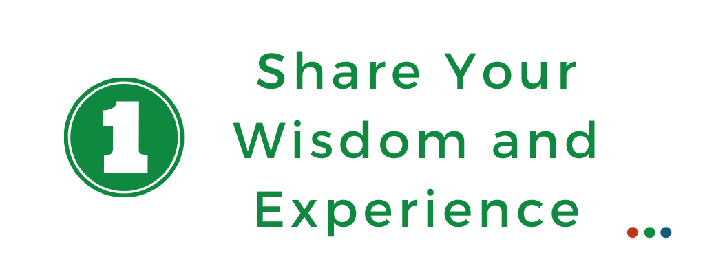 Share your wisdom and experience during coronavirus